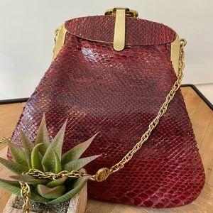 Vintage Carlo Fiori Snakeskin Handbag REAL